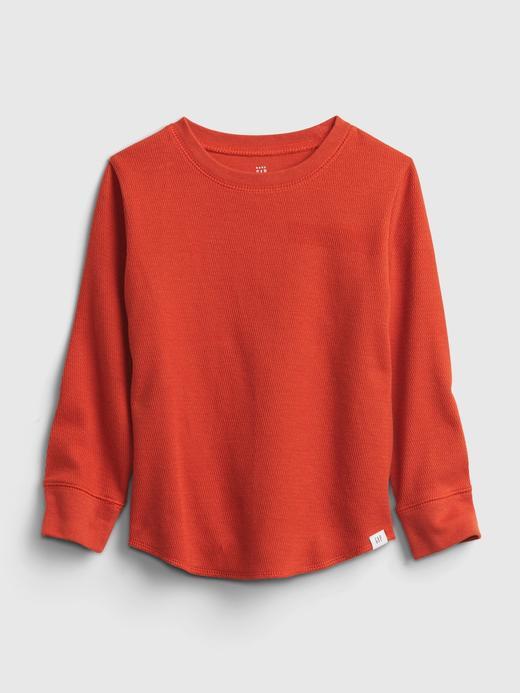 Erkek Bebek Kırmızı Dokulu Uzun Kollu T-Shirt