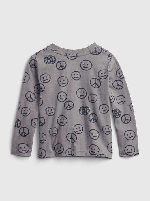 Erkek Bebek Kahverengi %100 Organik Pamuk Uzun Kollu T-Shirt