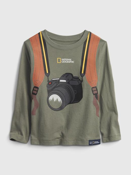 Erkek Bebek Yeşil %100 Organik Pamuk National Geographic T-Shirt