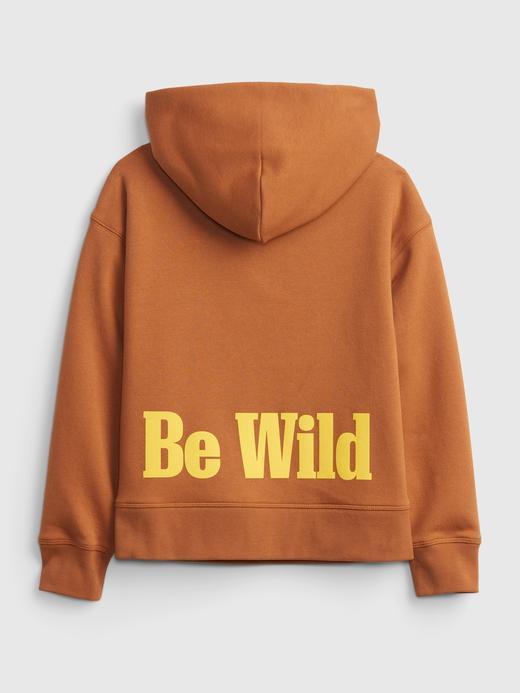 Erkek Çocuk Turuncu National Geographic Kapüşonlu Sweatshirt