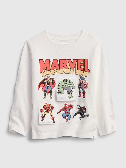 Erkek Bebek Beyaz Marvel İnteraktif T-Shirt