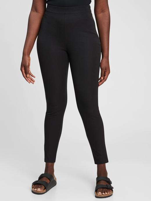 Kadın Siyah High Rise Legging Tayt