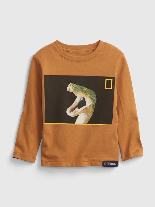 Erkek Bebek Kahverengi %100 Organik Pamuk National Geographic T-Shirt