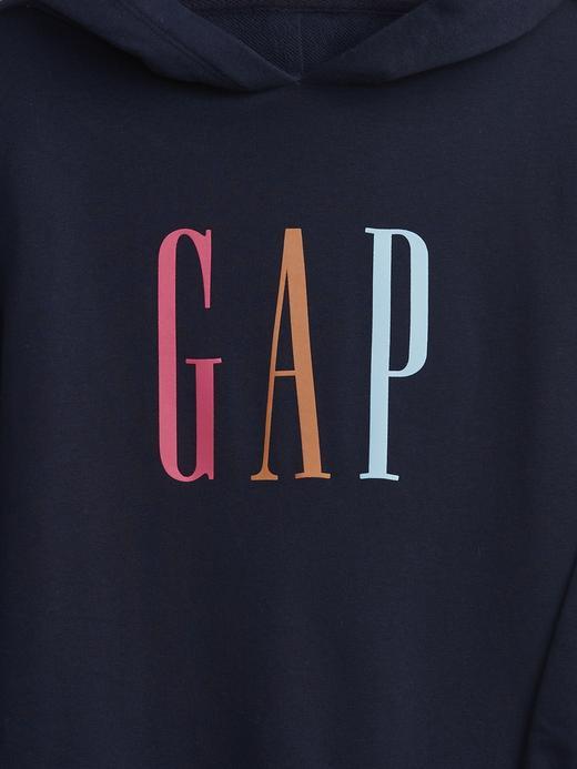 Kız Çocuk Lacivert Gap Logo Sweatshirt Elbise