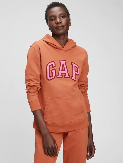 Kadın Turuncu Gap Logo Kapüşonlu Sweatshirt