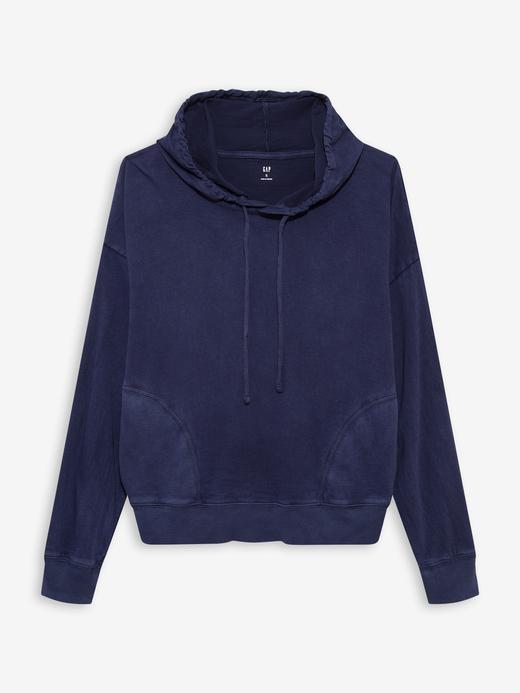 Kadın Lacivert Jersey Kapüşonlu Sweatshirt