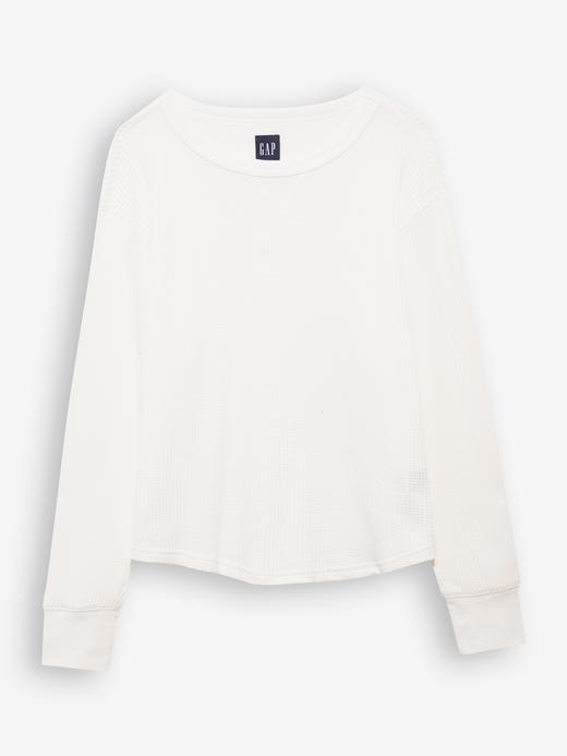 Kadın Beyaz Waffle Örme T-Shirt