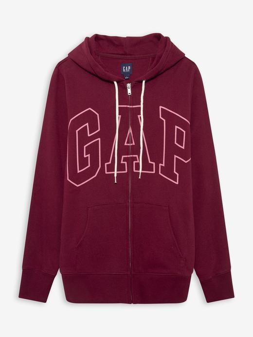 Kadın Kırmızı Gap Logo Kapüşonlu Sweatshirt