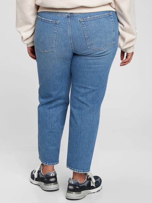 Kadın Mavi Washwell™ High Rise Cheeky Straight Jean Pantolon
