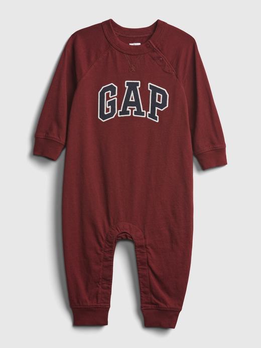Erkek Bebek Kırmızı Gap Logo Tulum