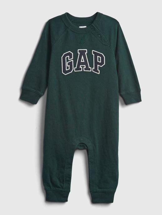 Erkek Bebek Yeşil Gap Logo Tulum