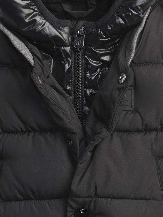 Erkek Bebek Siyah ColdControl Maxi Puffer Şişme Mont