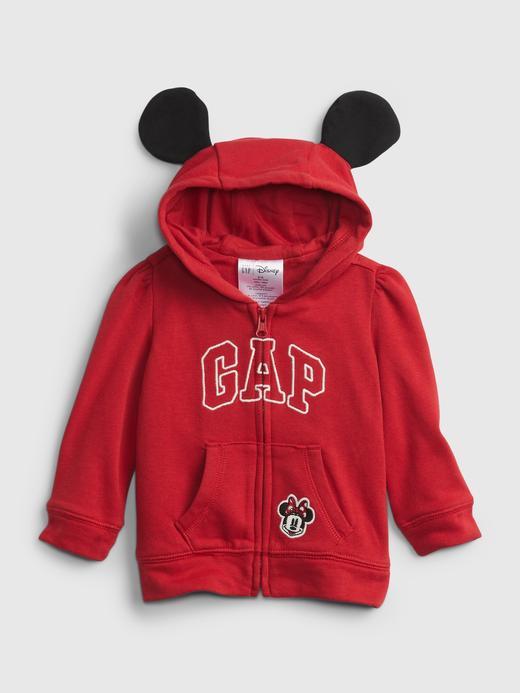 Kız Bebek Kırmızı Disney Minnie Mouse Gap Logo Sweatshirt