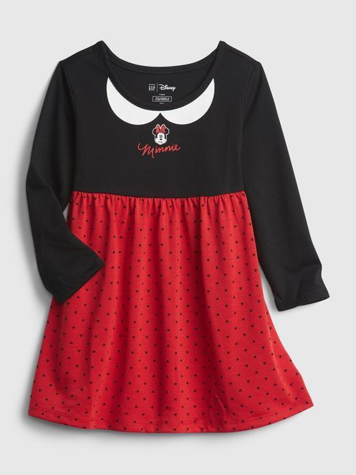 Kız Bebek Siyah %100 Geri Dönüştürülmüş Disney Minnie Mouse Elbise