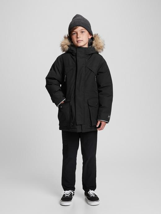 Erkek Çocuk Siyah ColdControl Ultra Maxi Mont