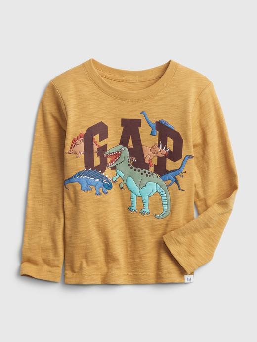 Erkek Bebek Sarı Grafik Gap Logo T-Shirt