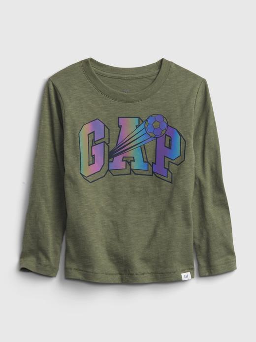 Erkek Bebek Yeşil Grafik Gap Logo T-Shirt
