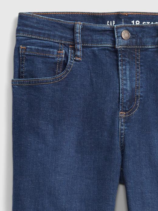 Genç Erkek Lacivert Teen Stacked Ankle Skinny Washwell™ Jean Pantolon