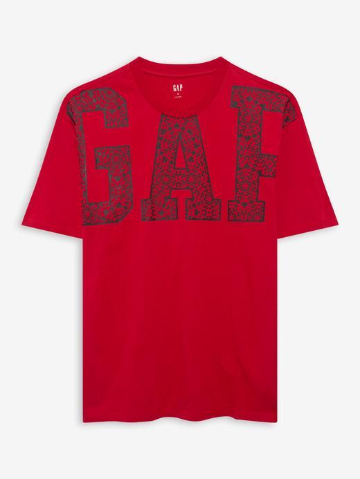 Erkek Kırmızı Gap Logo T-Shirt