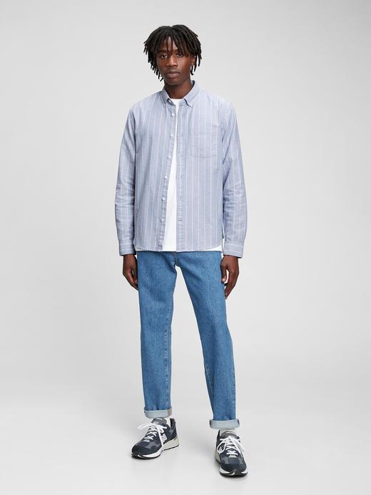 Erkek Kırmızı Standard Fit Oxford Gömlek