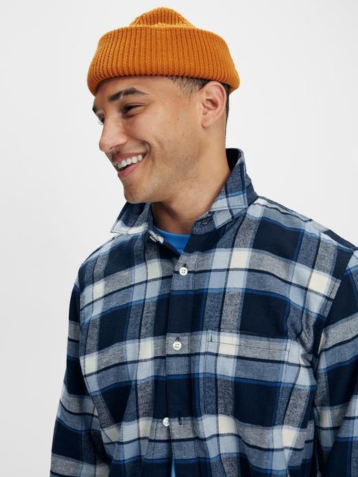 Erkek mavi %100 Organik Pamuk Flannel Gömlek