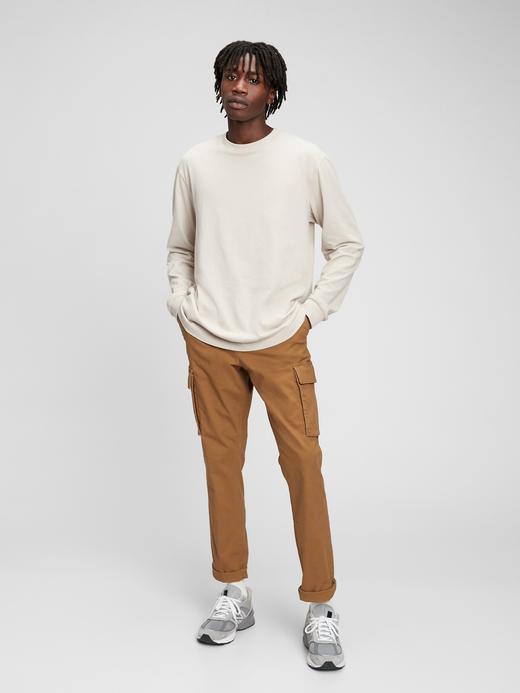 Erkek Kahverengi GapFlex Easy Kargo Pantolon
