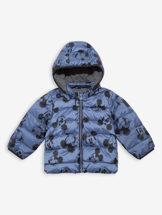 Erkek Bebek Mavi Disney Mickey Mouse Puffer Şişme Mont