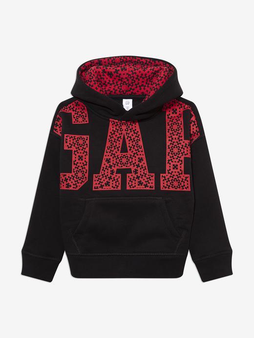 Erkek Bebek Siyah Gap Logo Kapüşonlu Sweatshirt