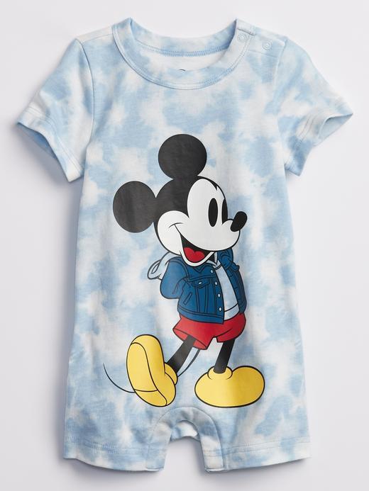 Erkek Bebek Mavi Disney Micket Tie Dye Tulum