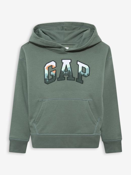 Erkek Çocuk Yeşil Gap Logo Kapüşonlu Sweatshirt