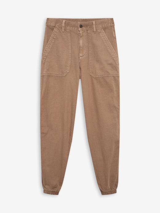Kadın kahverengi Organik Pamuk Jogger Pantolon