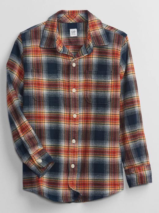 Erkek Çocuk Turuncu Flannel Gömlek