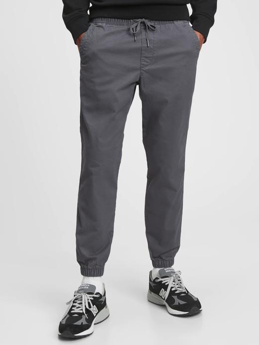 Erkek gri GapFlex Essential Washwell™ Jogger Pantolon