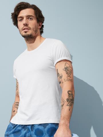 Erkek Beyaz Authentic SUPIMA® Yuvarlak Yaka T-Shirt