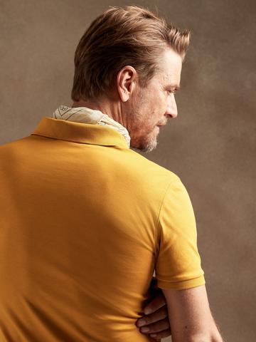 Erkek Siyah Luxury Touch Performance Polo T-Shirt