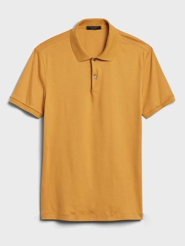 Erkek Mavi Luxury Touch Performance Polo T-Shirt