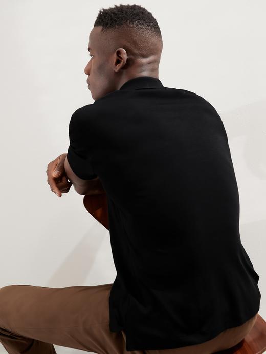 Erkek Lacivert Luxury Touch Performance Polo T-Shirt