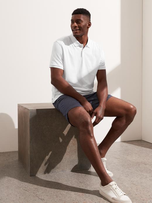 Erkek Beyaz Luxury Touch Performance Polo T-Shirt