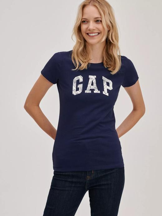 Kadın lacivert Gap Logo T-Shirt