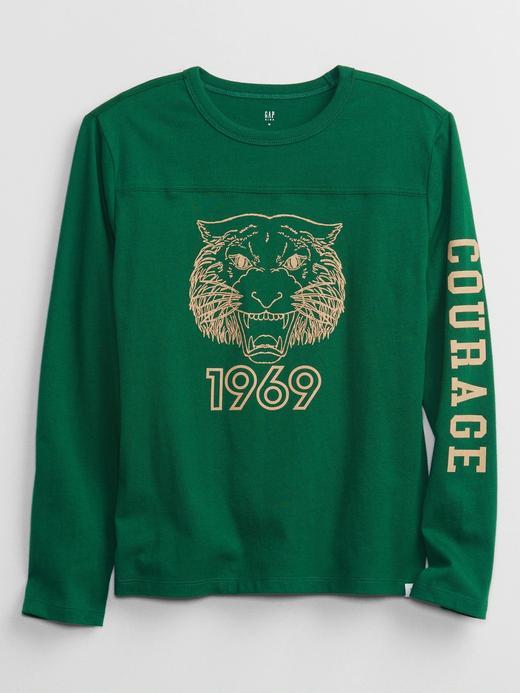 Erkek Çocuk Yeşil Grafik Baskılı T-Shirt