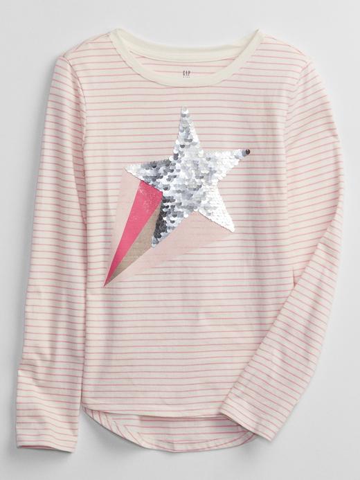 Kız Çocuk beyaz İnteraktif Grafik Baskılı T-Shirt