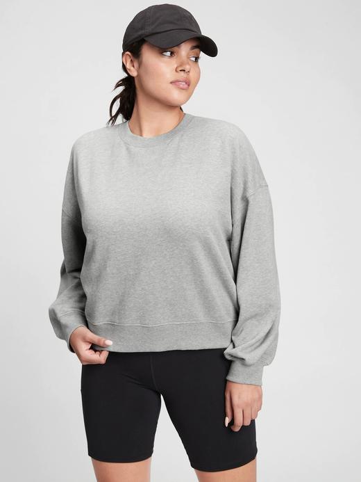 Kadın Gri Pullover Yuvarlak Yaka Sweatshirt