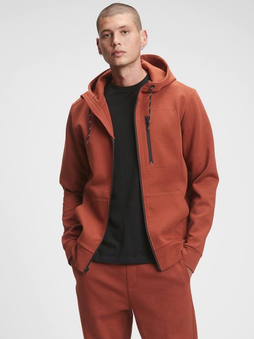 Erkek kahverengi Performans Kapüşonlu Sweatshirt