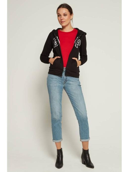 Kadın siyah Gap Logo Kapüşonlu Sweatshirt