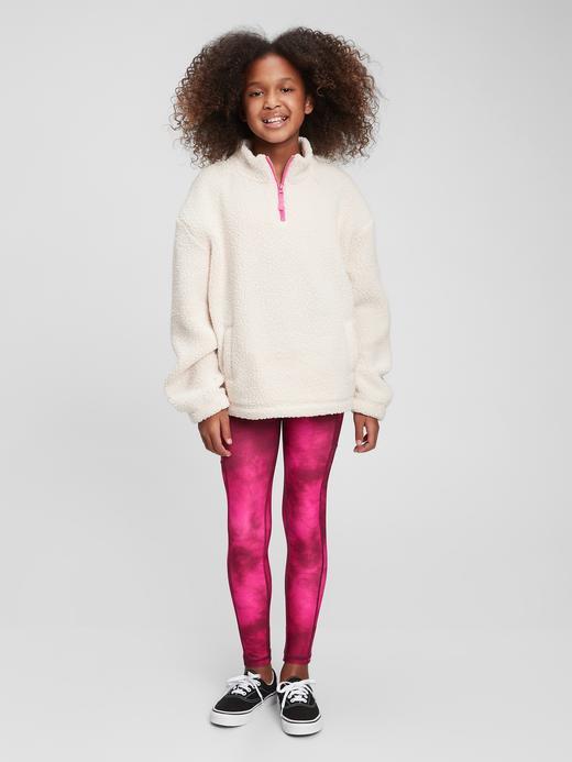Kız Çocuk Siyah GapFit Geri Dönüştürülmüş Legging Tayt