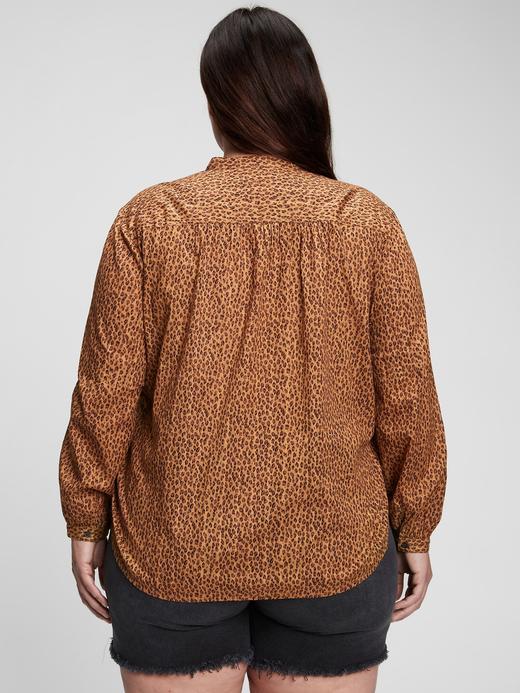 Kadın Lacivert Büzgülü Popover Gömlek