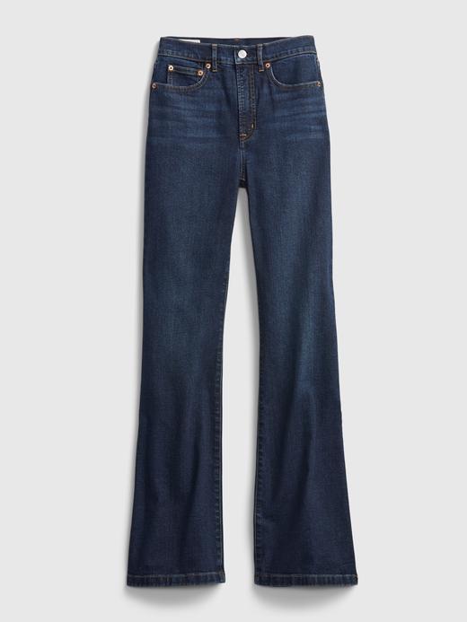 Kadın lacivert High Rise Flare Jean Pantolon