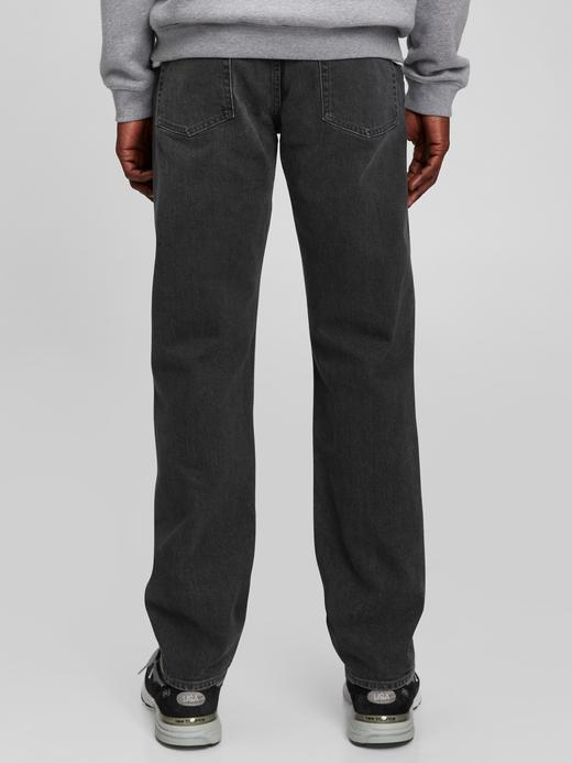 Erkek Siyah GapFlex Straight Washwell™ Jean Pantolon