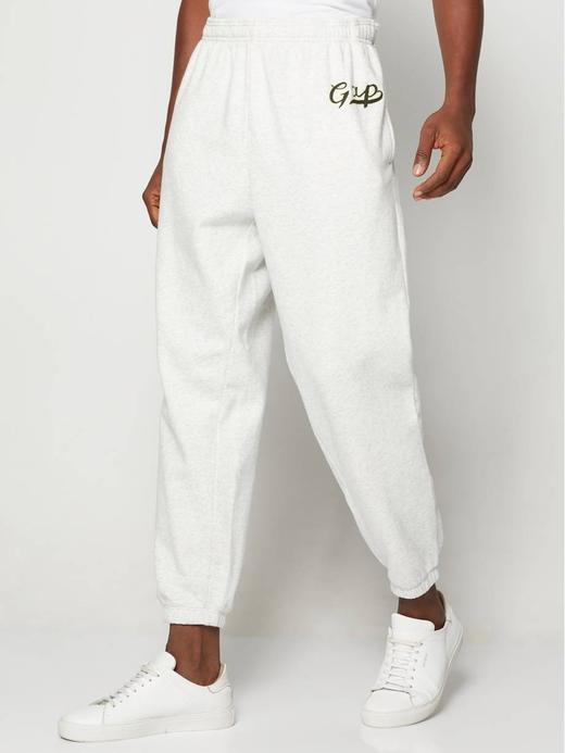Erkek beyaz Gap Script Logo Jogger Eşofman Altı