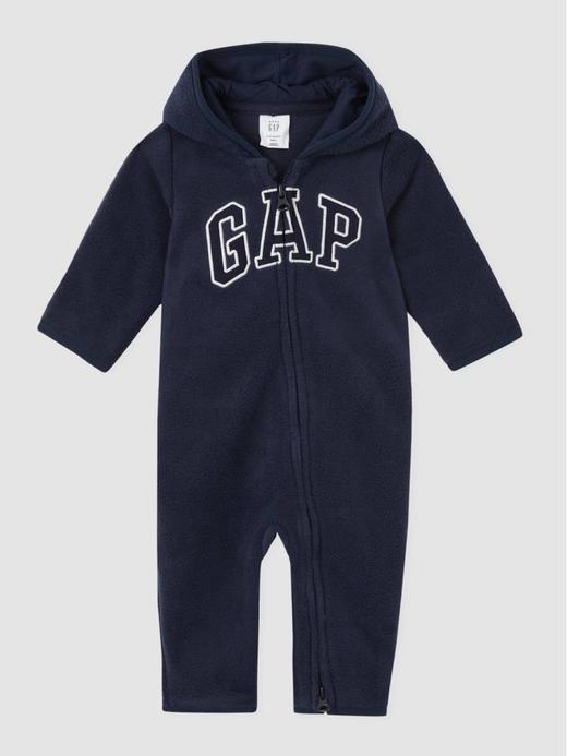 Erkek Bebek Lacivert Gap Logo Kapüşonlu Tulum